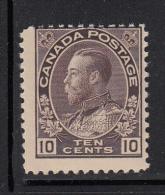 Canada MNH Scott #116 10c George V Admiral Issue, Brown Purple - Neufs
