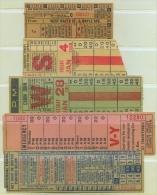 5 TICKETS TRANS. USA // (5) - Transportation Tickets