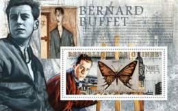 gu09102b Guinea 2009 Paintings of Bernard Buffet s/s Butterfly Clock