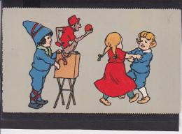 S40 /    Kunstkarte , Kinder Leierkasten , Affe - 1900-1949