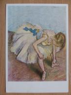 E Degas  Painted / Dancer  / Louvre/ Polish Postcard - Paintings
