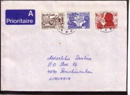 Music Airmail Used Denmark Cover 1994 Sent To Lithuania #4018 - Danemark