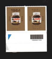 Italia ** - Anno 2014 - Anniversario Dei 50 Anni Della Nutella.  Coppia Con Codice A Barre. - 6. 1946-.. Repubblica