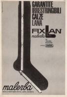 # CALZE MALERBA 1950s Advert Pubblicità Publicitè Reklame Stockings Bas Medias Strumpfe - Signore