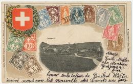 Tavannes  Carte Gaufrée Philatelique Ottmar Zieher No 7 Edit Guggenheim Vers Brenets Alfred Diaccon - BE Berne