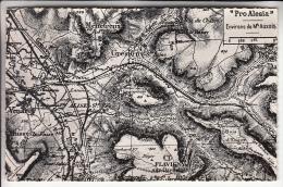 MONT AUXOIS Près De FLAVIGNY Et  VENAREY LES LAUMES 21 - Pro Alésia : Carte Géographique Ancienne CPSM PF - Côte D'Or - Altri Comuni
