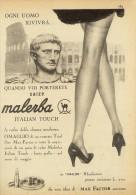 # CALZE MALERBA 1950s Advert Pubblicità Publicitè Reklame Stockings Bas Medias Strumpfe - Calze