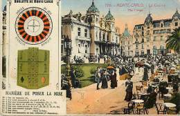 Depts Divers  Ref M 835 -  Monaco - Monte Carlo - Le Casino  - La Roulette - Maniere De Poser La Mise - Casinos - Jeux - Casino
