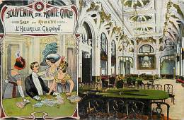 Depts Divers  Ref M 833 -  Monaco - Monte Carlo -souvenir  -  Le Casino  - Salle De La Roulette - L´ Heureux Gagnant - - Casino