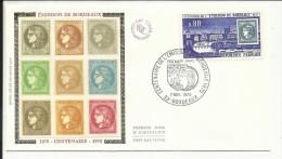 FDC , 1er Jour , 07.11.1970 , 0.80 F  , Centenaire De L' Emission De Bordeaux , BORDEAUX , N°YT  1659 - 1970-1979