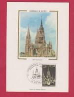 CARTE 1 ER JOUR  //  CATHEDRALE DE BAYEUX     // 9/8/1977 - Maximum Cards