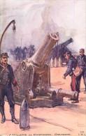 Guerre 1914-18- Ref K110- Illustrateur Charles Fouqueray -materiel Canons -canon - Artillerie De Campagne -obusiers    - - Guerra 1914-18