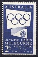 Australia 1954 Olympic Games Melbourne 1956 2s Blue MH - 1952-65 Elizabeth II : Pre-Decimals