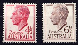 Australia 1951, 1952 King George V! 2 Values MNH  SG 248, 249 - - Mint Stamps
