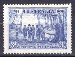Australia 1937-1938 Governor Phillip At Sydney Cove 3d MH - Mint Stamps