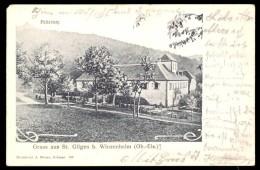 CPA, AK Ecrite 1903  Souvenir De St Gilles Près De Wintzenheim Haut-Rhin - 68-  / Gruss Aus St Gilgen Bei Winzenheim - Wintzenheim
