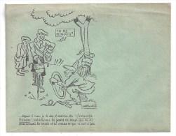 """Thème CYCLISME - Enveloppe Publicitaire Illustrée """" Increvables Baudou """" - Publicités"""