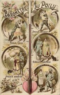 Guerre 1914-18- Ref K41- Couple -theme Couples -barometre Du Poilu - Chat Noir -theme Chats  -carte Bon Etat  - - Guerra 1914-18