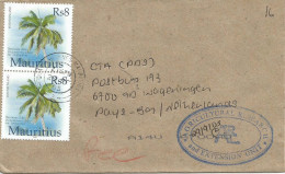 Mauritius Maurice 2005 Quatre Bornes 2 Hurricane Palm Franked (fee) Official Cover - Mauritius (1968-...)