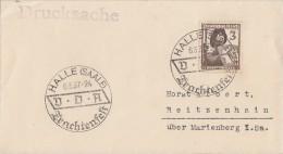 DR Brief EF Minr.643 SST Halle (Saale) Trachtenfest 6.3.37 - Deutschland