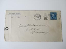 USA 1917 Brief Nach Cottbus. Openend By Censor 4032. Zensurbeleg / 1. Weltkrieg - Briefe U. Dokumente