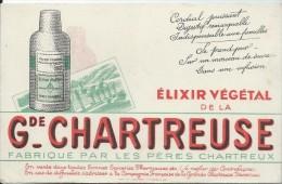 Elixir Végétal De La Grande Chartreuse /Fabriqué Par Les Péres Chartreux /Bruyére/St Etienne/ Vers 1945-1955    BUV118 - Liquor & Beer