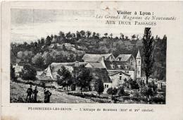Plombières Les Dijon : L'abbaye De Bonvaux (Imp. Reverchon Et Fils, Paris) Publicité  Magasin Aux Deux Visages, Lyon - France