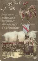 Guerre 1914-18- Ref H994- Le Chant Du Coq - Alsace Lorraine  - Carte Bon Etat  - - War 1914-18