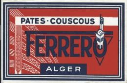 Pates /Couscous/Ferrero/ALGER/ / Vers 1945-1955    BUV119 - Food