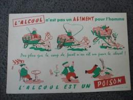 BUVARD @ ALCOOLISME Alcoolique Alcool Cheval - Buvards, Protège-cahiers Illustrés
