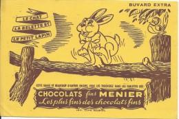 Chocolat Fins MENIER/ Le Chat La Belette Et Le Petit Lapin/Vers 1945-1955    BUV129 - Cocoa & Chocolat
