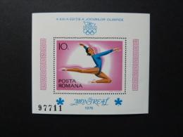 BLOC FEUILLET GYMNASTIQUE - ROUMANIE - J.O. MONTREAL - 1976 - Estate 1976: Montreal