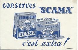 Conserves SCAMA/Corned-Beef  /Boeuf à La Gelée/Vers 1945-1955    BUV130 - Alimentaire