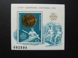 BLOC FEUILLET CANOE KAYAK - ROUMANIE - J.O. MONTREAL -1976 - Estate 1976: Montreal