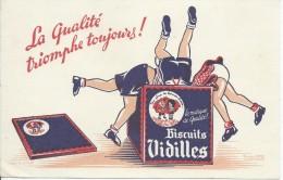 Biscuits Vidilles/la Marque De Qualité /Vers 1945-1955    BUV132 - Sucreries & Gâteaux