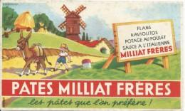 Pâtes / Pâtes Milliat Fréres / Les Pâtes Que L´on Préfére / /Vers 1945-1955    BUV133 - Buvards, Protège-cahiers Illustrés