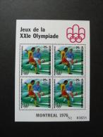 BLOC FEUILLET . -  GUINEE  J.O. MONTREAL 1976 - Football - Estate 1976: Montreal