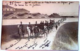 CPA Carte Photo Militaire Médecin Vétérinaire Régiment Cavalerie Dragon 1911 REIMS Marne 51 - Reims