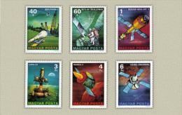 HUNGARY 1977 SPACE Satelites SHIPS - Fine Set MNH - Ungebraucht
