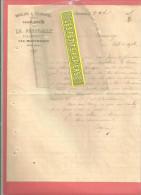 70 - Haute-saône - LA ROUCHOTTE Par MONTBOZON - Facture PETITJEAN - Moulins - Huilerie - 1895 - France