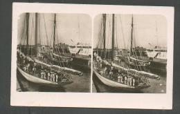 SHIP BOAT HOHENZOLLERN  METEOR  IDUNA IN  KAISER WILHELM KANAL  , OLD STEREO PHOTO, 0 - Warships