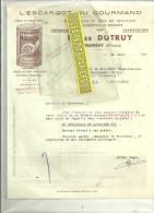 70 - Haute-saône - MARNAY - Facture DUTRUY - Conserverie D'escargots - 1947 - France