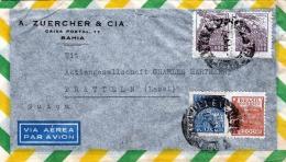 BRASIL 193? - Seltene Schöne 4 Fach Frankierung (hoher Wert) Auf LP-Brief Gel.nach Pratteln Suica - Briefe U. Dokumente