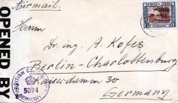 SUIDWES AFRIKA 1947 - Brithis Censor Germany - 1f Frankierung Auf Brief Nach Berlin - A.O.F. (1934-1959)