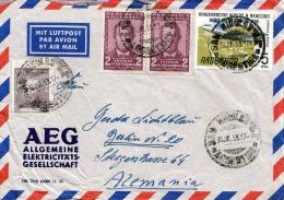 ARGENTINA 1959 -  4 Fach Frankierung LP-Brief Gel.v.San Nicolas Nach Berlin - Argentinien