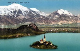 BLED (Slowenien) 1910? - Sehr Schöne Karte Gel., Stempel Bled Veldes1 - Slowenien