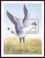 MINT NEVER HINGED SOUVENIR SHEET OF BIRDS   #  0412-6  (  GAMBIA   2351 - Birds
