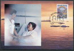 1992 Greenland Cancer Research Medical Maxicard - Ammassalik - Cartes-Maximum (CM)