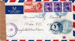 LP-Brief Türkei > Österreich 1949 Zensur, Brief Mit Mehrseitigem Inhalt - 1921-... Republiek