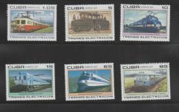O) 2007 CARIBE, ELECTRIC TRAINS, SET FOR 6 MNH - Cuba